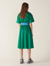Cotton Satin Dress : All Selection color Green