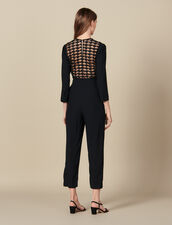 Wrapover jumpsuit : FBlackFriday-FR-FSelection-30 color Black