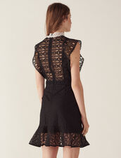 Lace Dress With Sheer Effect : All Selection color Black