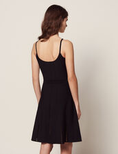 Short Knit Dress With Straps : All Selection color Black
