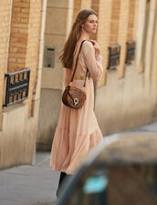 Long pleated dress with long sleeves : FBlackFriday-FR-FSelection-50 color Nude