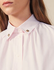 Shirt With Jewelled Buttons At Collar : Tops & Shirts color Pink