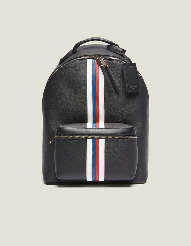 Saffiano Leather Backpack : Backpacks color Black