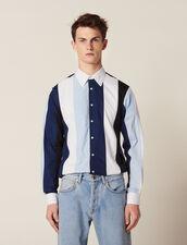 Shirt With Multicoloured Stripes : Sélection Last Chance color Blue