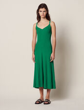 Long Knitted Dress With Straps : LastChance-FR-FSelection color Green
