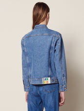 Masculine Fit Denim Jacket : null color Blue Vintage - Denim