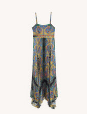 Long printed dress with straps : Dresses color Black