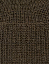 Beanie with turn-up cuff : Gloves & Hats color Olive Green