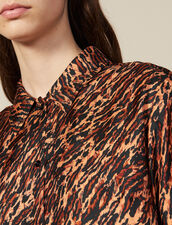 Printed Silk Twill Shirt : All Ready-to-wear color Brown