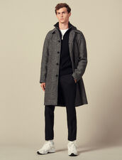 Coat with belt : LastChance-IT-H50 color Noir/Gris