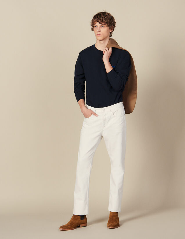 Cotton Slim-Fit Jeans : Winter Collection color white
