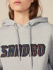 Sweatshirt With Sandro Lettering : Sweatshirts color Grey