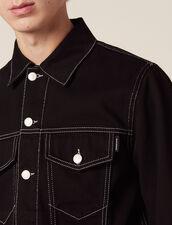 Denim Canvas Jacket : Blazers & Jackets color Black