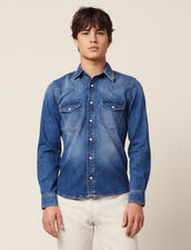 Faded Denim Shirt : Shirts color Blue Vintage - Denim