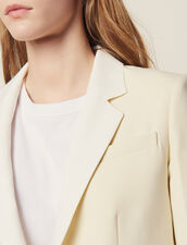 Suit Jacket With Contrasting Collar : Blazers & Jackets color Ecru