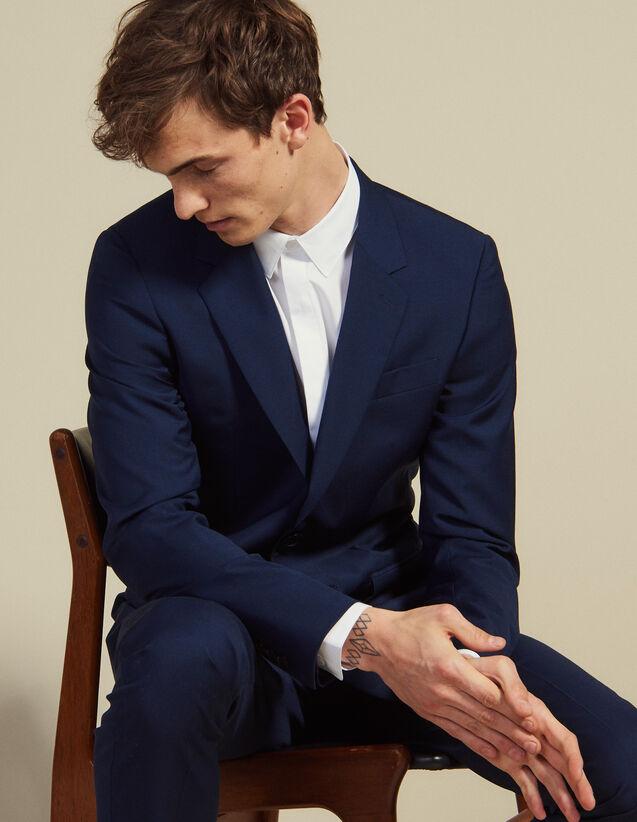 Mohair Wool Suit Jacket : Suits & Tuxedos color Blue