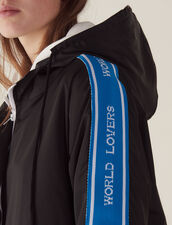 Windbreaker Coat With Lettering On Trim : All Selection color Black
