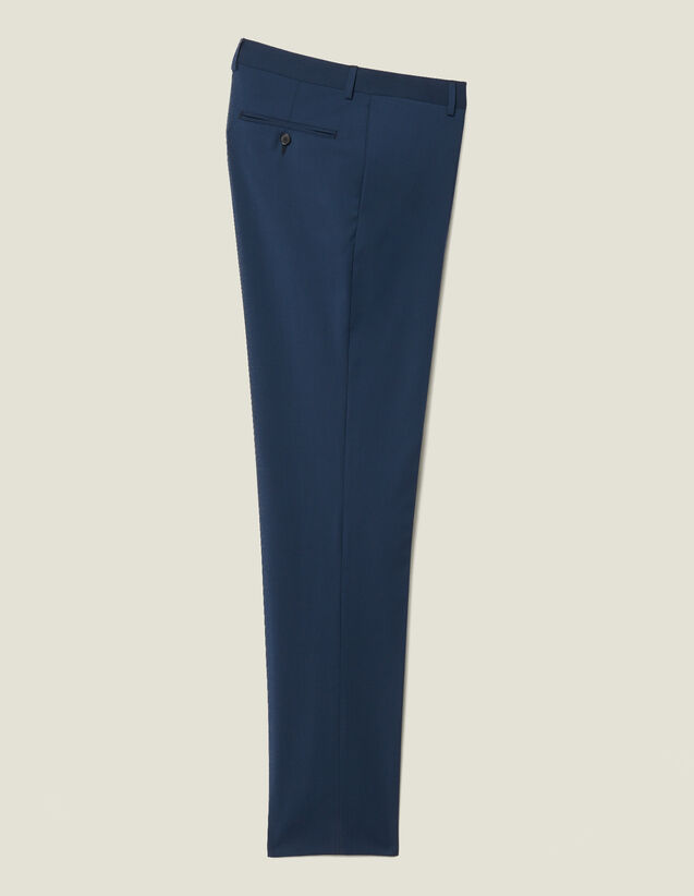 Classic Super 110 Suit Trousers : New Collection color Petrol