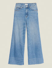 Wide Leg Jeans : null color Blue Vintage - Denim