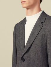 Marled wool suit jacket : LastChance-IT-H50 color Mocked Grey