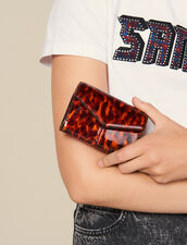 Printed Patent Leather Wallet : New In color Orange leopard