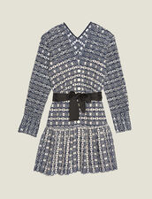 Short Broderie Anglaise Dress : LastChance-FR-FSelection color Navy Blue