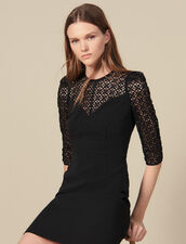 Short Dress With Insert : Dresses color Black