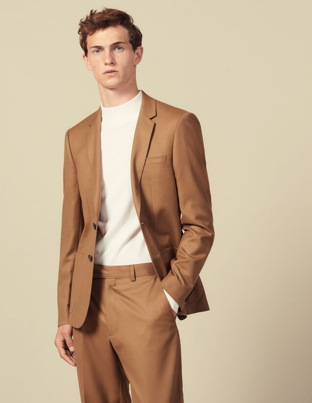 Wool Suit Jacket : Suits & Tuxedos color Camel