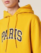 Hoodie With Patch Lettering : Sélection Last Chance color Yellow