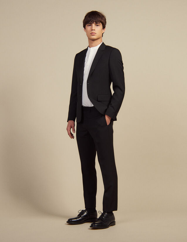 Wool Suit Trousers : Suits & Tuxedos color Black