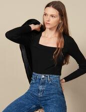 Square neck sweater : FBlackFriday-FR-FSelection-30 color Black