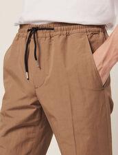 Smart Cotton/Linen Trousers : Sélection Last Chance color Navy Blue