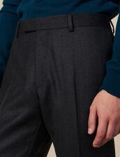 Wool suit trousers : LastChance-IT-H50 color Charcoal Grey