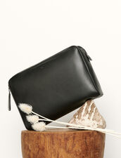 Large supple leather pouch : All Leather Goods color Black