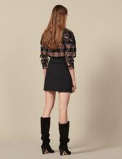 Short Skirt With Asymmetric Ruffle : FBlackFriday-FR-FSelection-40 color Black