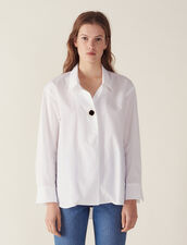 Shirt Embellished With A Jewelled Button : null color white