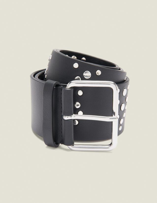 Black Belt Trimmed With Studs : Belts color Black