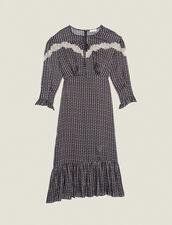 Long Bohemian Print Dress : LastChance-FR-FSelection color Black