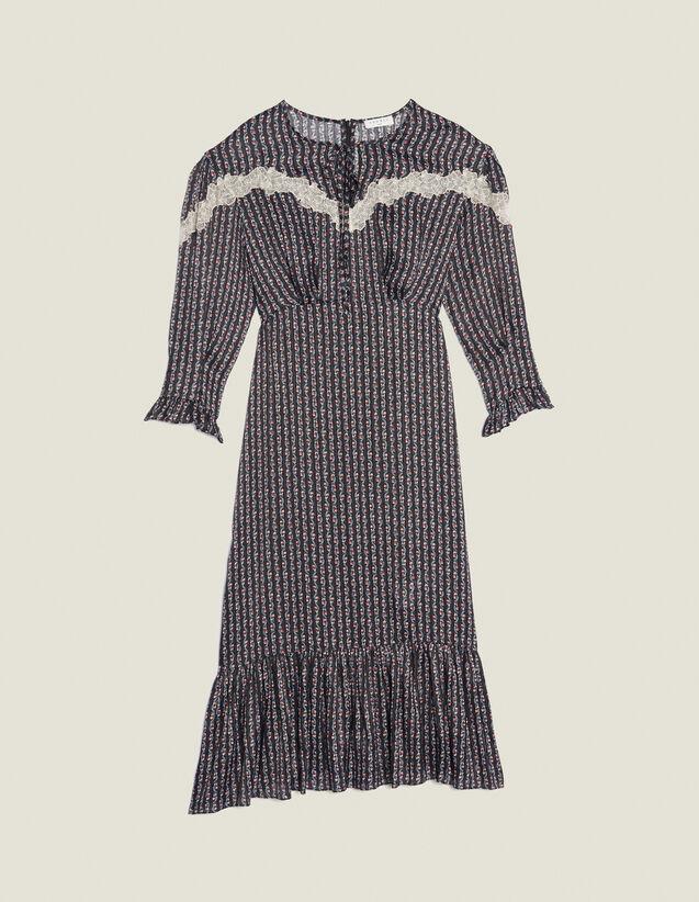 Long Bohemian Print Dress : All Selection color Black
