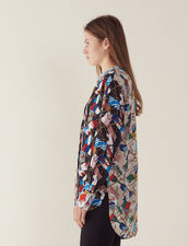 All-Over Flag Print Shirt : All Selection color Multi-Color