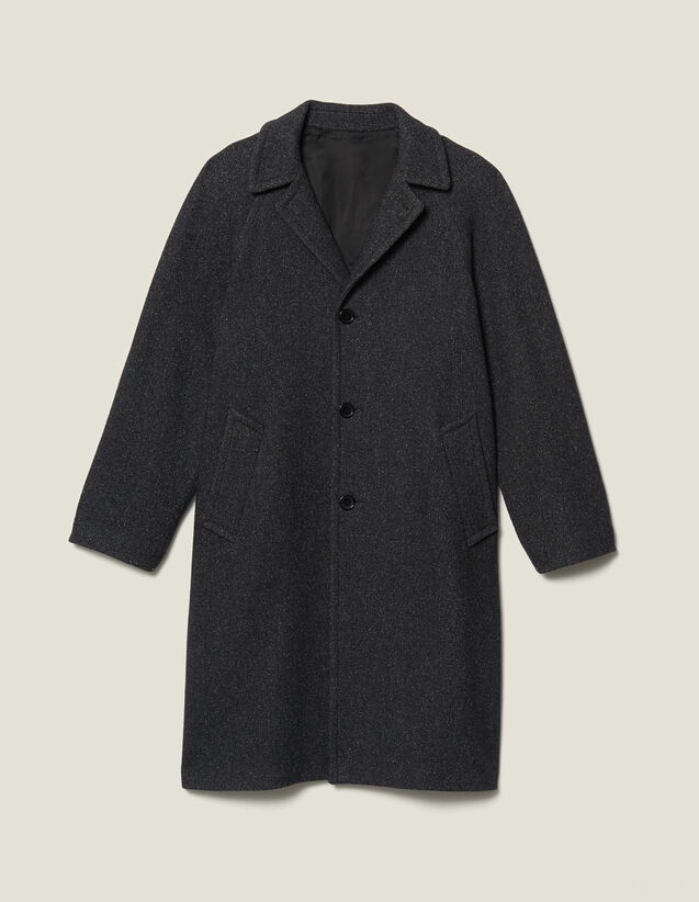 Long wool coat : LastChance-IT-H50 color Mocked Grey