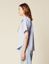 Short-Sleeved Poplin Shirt : All Selection color Blue