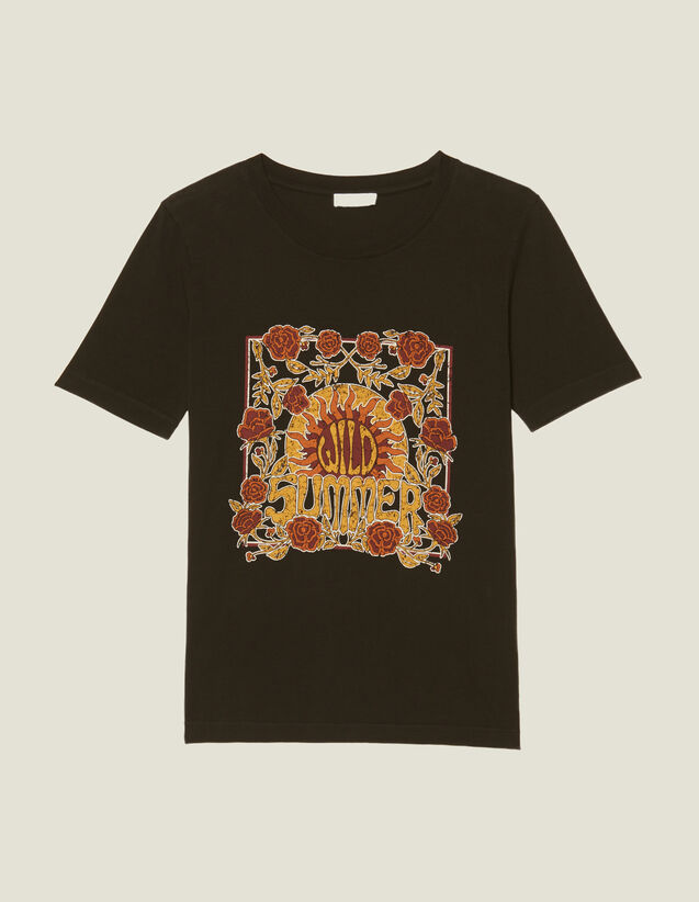 T-Shirt With Block Motif : T-shirts color Black