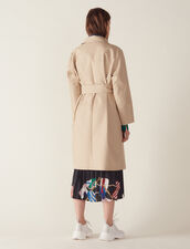 Trench Coat With Trompe L'Œil Effect : All Selection color Beige