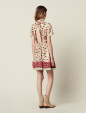 Printed Shirt Dress, Opening At The Back : All Selection color Multi-Color