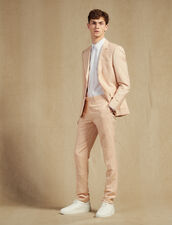 Linen Blend Suit Trousers : Sélection Last Chance color Light pink