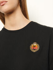T-shirt with patch on the chest : T-shirts color Black