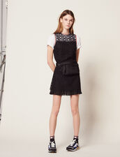 Sleeveless Guipure Dress : All Selection color Black