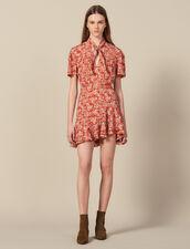 Short-sleeved printed dress : FBlackFriday-FR-FSelection-30 color Red