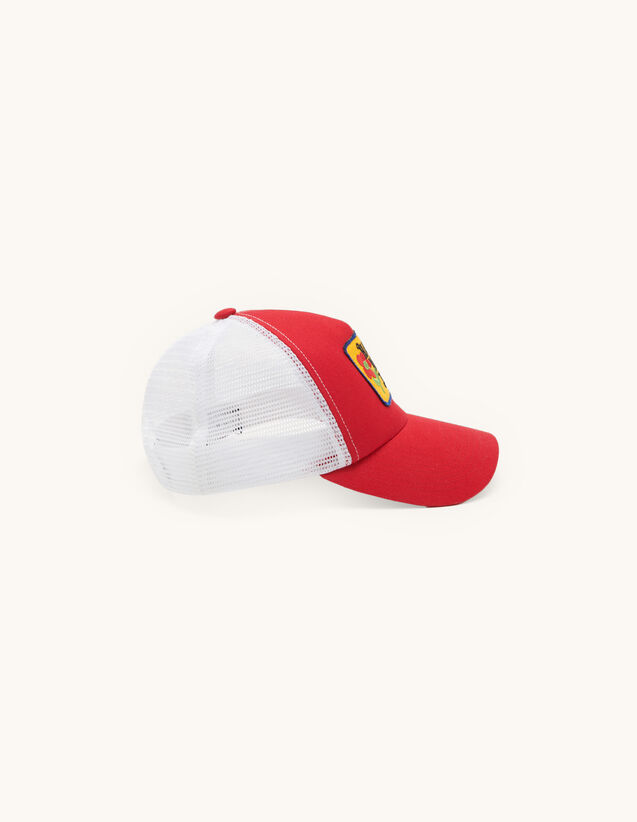 Cap with embroidered patch : Caps color Red